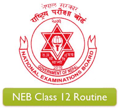 NEB Class 12 Exam Routine 2078 (UPDATED)