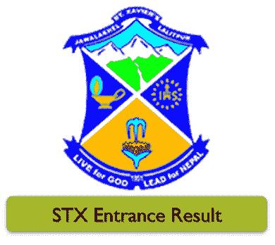 stx.edu.np Entrance Result 2021